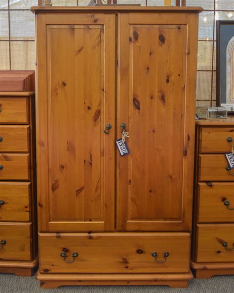 Knotty Pine Armoire Knotty Pine Dressing Armoire New Home Furniture