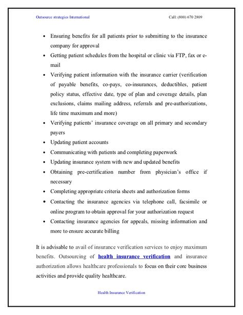 28 insurance verification resume sle 138 68 167 104