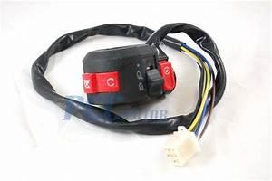 8 Wires Kill Light Starter Switch Atv Honda Quad 50 70 90