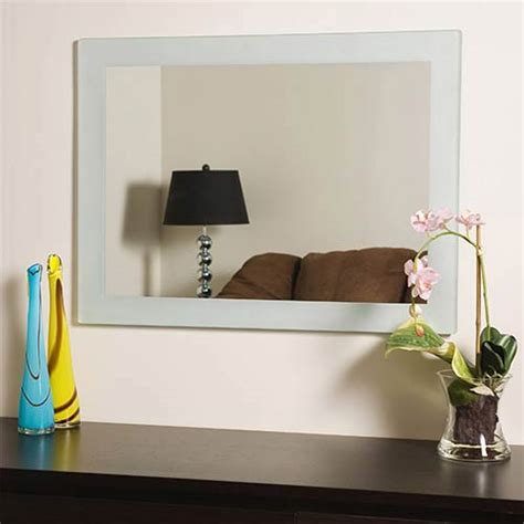 Crafted of thick, strong 3/16 glass and metal Decor Wonderland Sands Large Frameless Mirror Ssm502   Bellacor