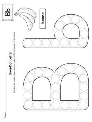 letter    dot worksheet preschool letters preschool