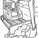 Coloring Pages Construction Digger Truck Excavator Drawing Vehicles Drawings Getcolorings Equipment Rivera Trucks Getdrawings Diego Pastel Clipartmag Printable Site Colorings sketch template