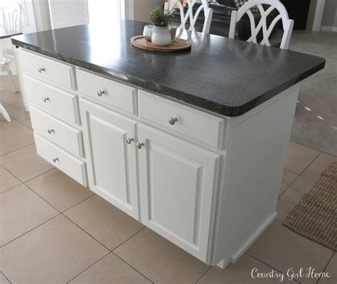 kitchen island with drawers country girl home kitchen island planking and paint makeover