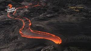 Video  Lava Flow Reaches Pali  Filmed From Above