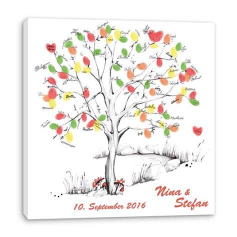 hochzeitsspiel fingerabdruck leinwand wedding tree