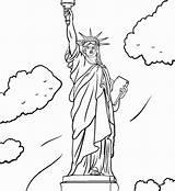 Liberty Statue Coloring Pages Drawing Step Outline Bell Oscar Draw Getdrawings Bert Ernie Getcolorings Printable Paintingvalley Easy Colorings sketch template
