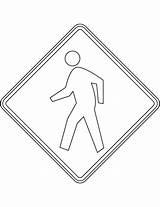 Coloring Crossing Pedestrian Usa Printable Signs Road Drawing Supercoloring Version Categories Crafts sketch template