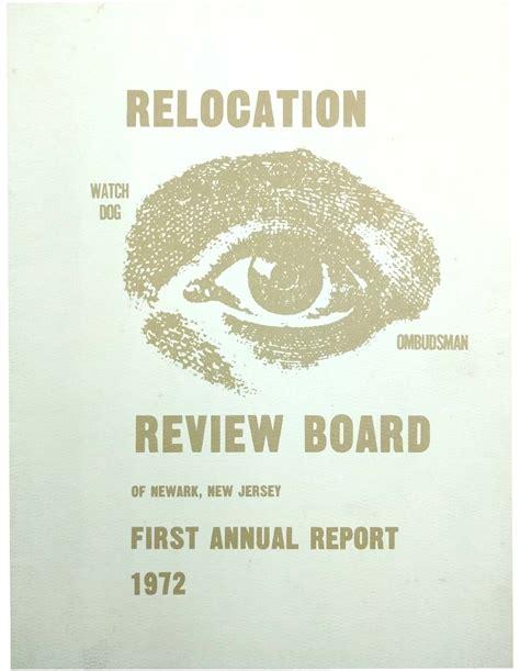 annual report   relocation review board
