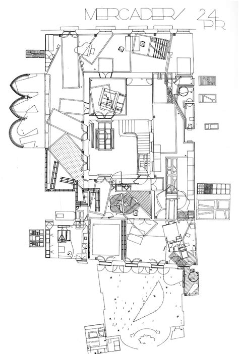 architecture plan maps the architectural plan as a map drawings by enric miralles the funambulist magazine