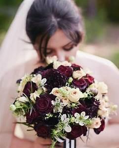 Fleurs Pour Mariage : bouquet de fleurs bordeaux pour le mariage wedding ~ Dode.kayakingforconservation.com Idées de Décoration