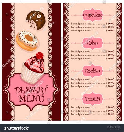 vector menu design  cake house bakery restaurant