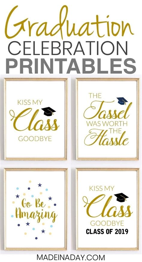 There is something for everyone including easy decor, fabulous food and ways to make memories of the. Celebration Quotes: Graduation Printables for Party Decor • Made in a Day