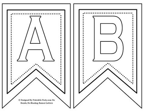 printable banner letters      st