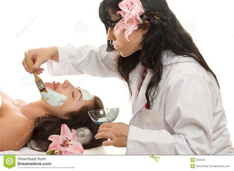 esthetician stock photo image  moisturize facial