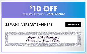 custom anniversary banners party city With party city wedding invitations coupons