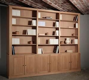 Meuble Bibliothèque Bois : meuble biblioth que contemporaine meubles et boiseries ~ Teatrodelosmanantiales.com Idées de Décoration