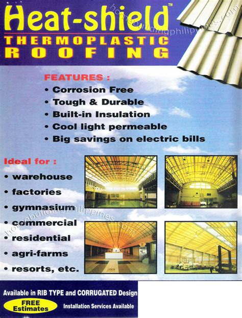build homes interior design heat shield thermoplastic roofing philippines
