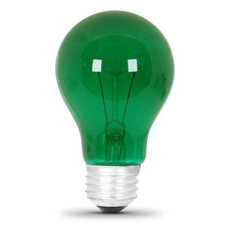 green light bulbs 25 watt transparent green a19 light feit electric