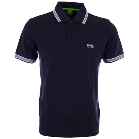 hugo green paddy modern fit pique navy polo hugo