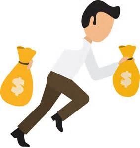 Cartoon Business Man with Money