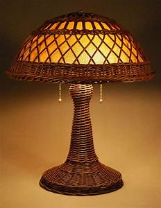 silver bay wicker studio handcrafted wicker lamps With silver rattan floor lamp