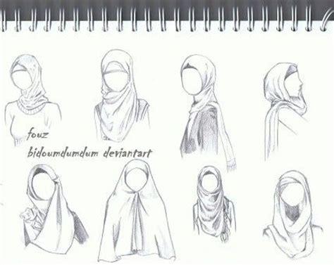 hijab sketch  draw   hijab drawing fashion