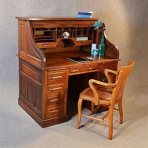 antique writing desk antique roll top writing bureau desk oak edwardian globe