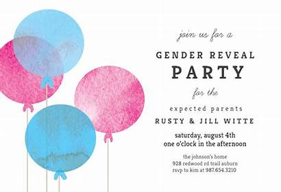 Balloon Reveal Gender Invitation Template Simple Templates