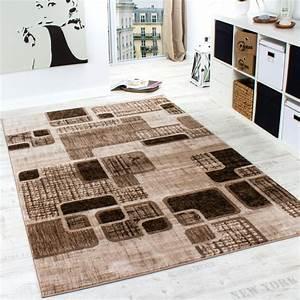 Teppiche Wohnzimmer : designer teppich wohnzimmer teppich retro muster in braun ~ Pilothousefishingboats.com Haus und Dekorationen