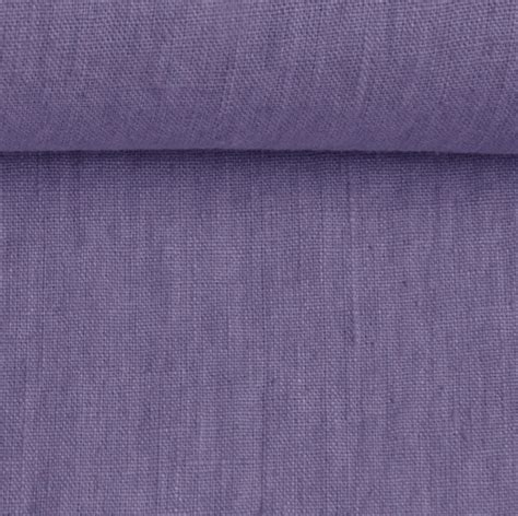 Mīkstināts, 100% lina audums- lavandas violets