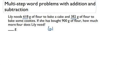 Solving Multistep Problems With Addition And Subtraction (metric Units)  Word Problems Ck12