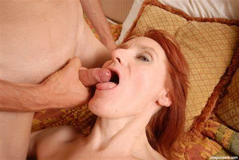 Spunky Oral From Grey Haired Milf