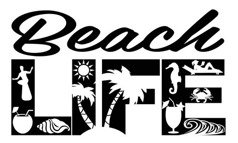 Freesvg.org offers free vector images in svg format with creative commons 0 license (public domain). Beach Life SVG Cutting File for Cricut