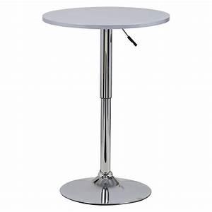 Table De Bar Ronde : 1 table de bar en mdf robuste et acier chrom r glable cuisine table ronde f054 ebay ~ Teatrodelosmanantiales.com Idées de Décoration