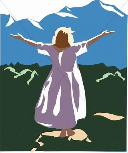 Praise God Woman Praising Silhouette Clipart Arms