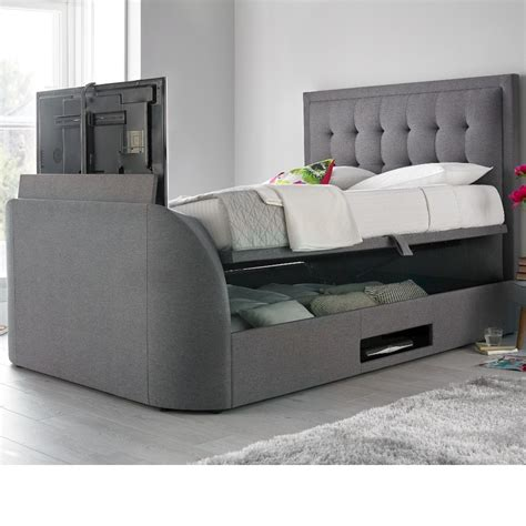 Ottoman Tv Bed by Metro Grey Fabric Ottoman Tv Bed