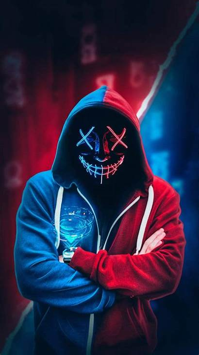 Neon Mask Wallpapers Anonymous Iphone Hoodie Phone