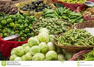Fresh Vegetables On Indian Market Stock Photo - Image ...