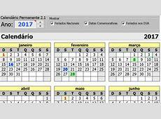 Calendário permanente + gerador de calendários no Excel 30