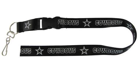 dallas cowboys lanyard keychain detachable black final