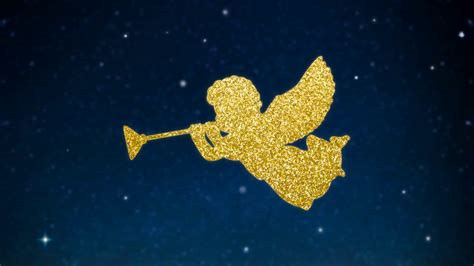 night stars christmas lights christmas glittering silhouette of angels with trumpets