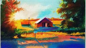 Landscape drawing for beginners with soft pastels ...