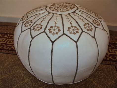 Hassock Ottoman Footstool by Moroccan Pouf Ottoman Footstool Poof Poufs Pouffe Pouffes