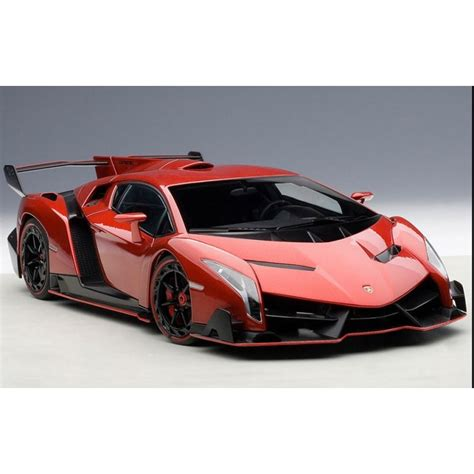 Autoart Model Car Lamborghini Veneno 2013, Red Model