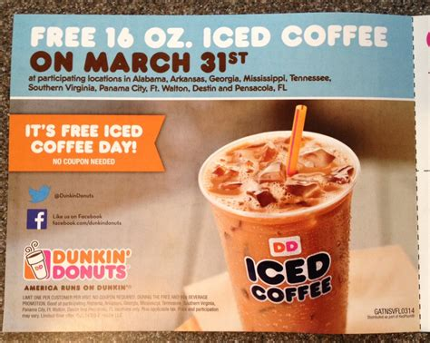 Free Iced Coffee Day At Dunkin' Donuts Douwe Egberts Coffee Tin Turkiye Roasted Hazelnut Nutrition Walmart Round Wood Table Starbucks Cup Online Collector Series Instructions Special