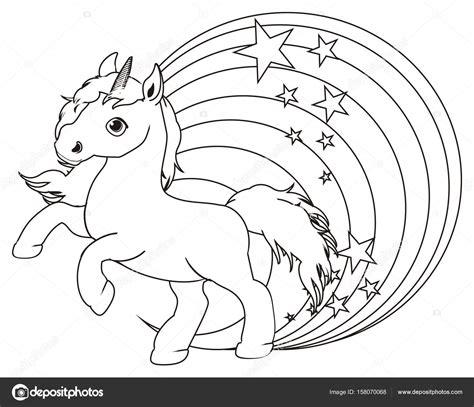 fotografie unicorno su arcobaleno da colorare disegni