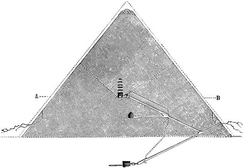 great pyramid  giza cross section clipart