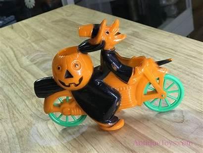Plastic Witch Toy Motorcycle Halloween Pumpkin Plastics