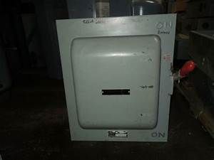Ge Tc35364 200a 3ph 3p 600v Ac Double Throw Non Fused