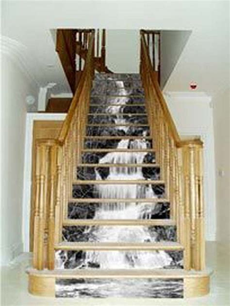 diy wallpapered stair risers ideas  give stairs